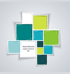 Abstract background with paper frames vector