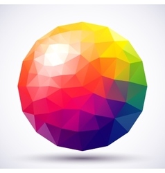 Abstract low-poly sphere vector image