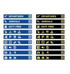 Airport terminal banners vector