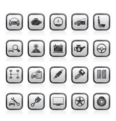 Auto service and car part icons vector