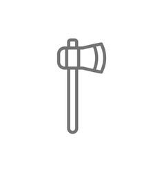 Ax axe hatchet line icon vector