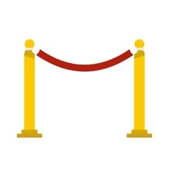 Barrier rope icon flat style vector