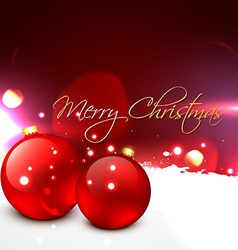 beautiful christmas ball vector image