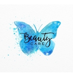 Beauty natural spa butterfly vector