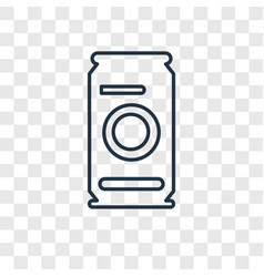 beer can concept linear icon isolated on vector image