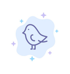 bird easter nature blue icon on abstract cloud vector image