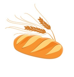Bread and ears of wheat vector image