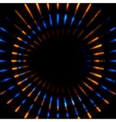 Bright glowing beams stripes vector image