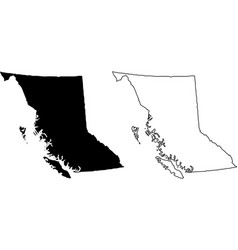 British columbia bc province and territory of vector