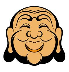 Buddha head icon cartoon vector