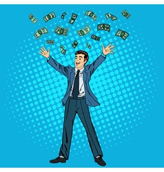 Businessman and Money Man Throwing Money vector image