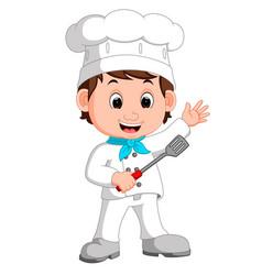 cartoon funny chef vector image