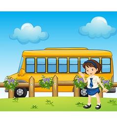 Cartoon schoolbus vector