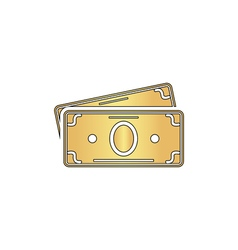 Cash computer symbol vector image