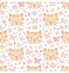 Cat color seamless pattern vector image