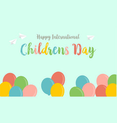childrens day greeting card background style vector image