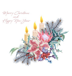 christmas bouquets arranged vector image