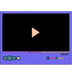 colorful video player vector image