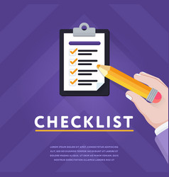 colorful with clipboard and checklist vector image