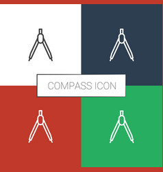 Compass icon white background vector