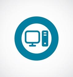 computer icon bold blue circle border vector image