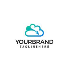 creative cloud logo design icon vector image