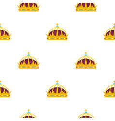crown pattern flat vector image