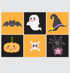 Cute Halloween Set vector