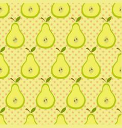 cute pear pattern vector image