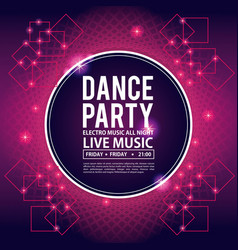 dance party invitation vector image