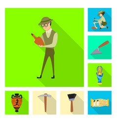 design of story and items sign collection vector image