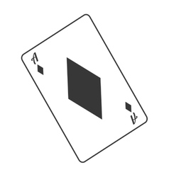 diamond card icon vector image