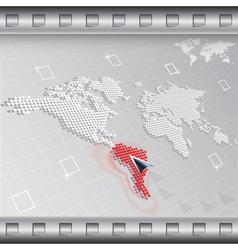 Digital world points vector