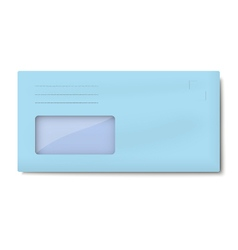 DL light blue envelope with window for address vector image
