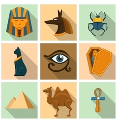 Egypt icon set vector image