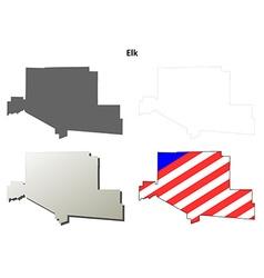 Elk Map Icon Set vector image