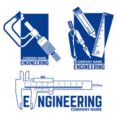 engineering company logo templates vector image