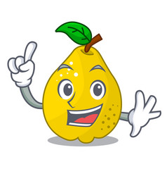 Finger sweet quince isolated on mascot cartoon vector