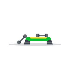 Fitness step board vector