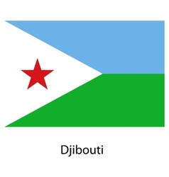 Flag of the country djibouti vector