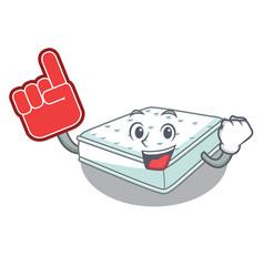 Foam finger mattress in cartoon on the shape vector