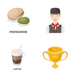 Food drink and other web icon in cartoon style vector