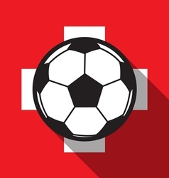 football icon with Switzerland flag vector image