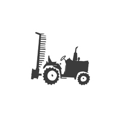 fun tractor icon vector image