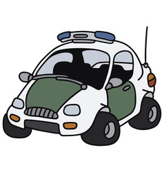 Funny police car vector image