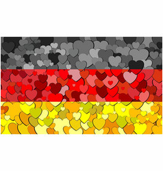 Germany flag made of hearts background vector