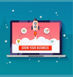 grow your business concept flat design modern vector image