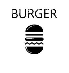 hamburger icon isolated on white background vector image