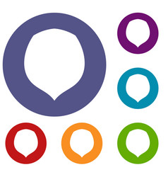 hazelnut icons set vector image
