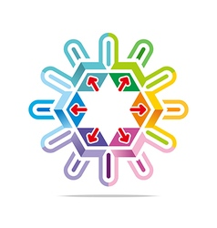 hexa house arrow design icon symbol star vector image